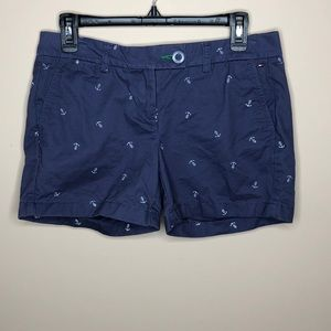 Tommy Hilfiger white anchor navy blue shorts sz 4